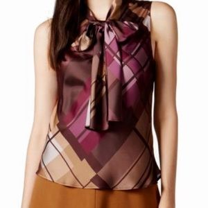 Nine West tie-front sleeveless blouse.